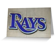 Tampa Bay Rays Logo, Florida Greeting Card