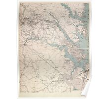 Civil War Maps 1132 Military map of south-eastern Virginia Poster