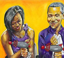The Obamas Ray Gun Rebel Edition by emceeartinc
