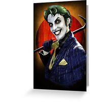 The Joker 'harleys joker'  Greeting Card