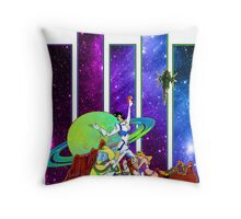 Dandy Vacation. In Space Throw Pillow