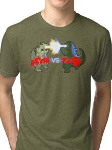 Tyranitar VS Godzilla Tri-blend T-Shirt