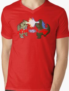 Tyranitar VS Godzilla Mens V-Neck T-Shirt