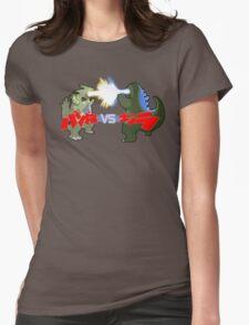 Tyranitar VS Godzilla Womens Fitted T-Shirt