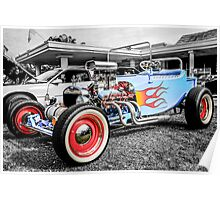 1923 Ford Model T -Bucket Hot Rod car Poster