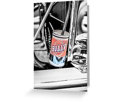 Hot Rod Billy Beer overflow can. Greeting Card