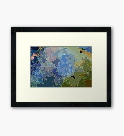 liquid assets Framed Print