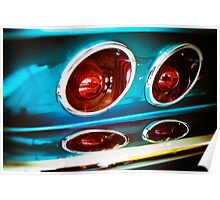1967 Corvette C2 Tail Lights Poster
