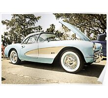 1957 Chevrolet Chevy Corvette Sports Car Poster