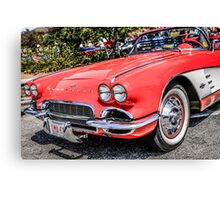 Red 1960s Chevy Corvette Canvas Print