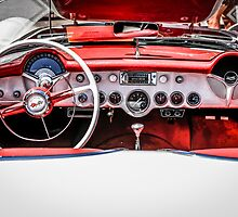Chevy Corvette Red leather Interior by Chris L Smith