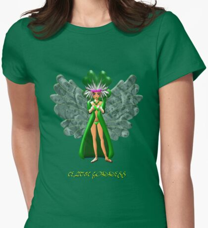 Morrigan the Celtic Goddess T-shirt design Womens Fitted T-Shirt