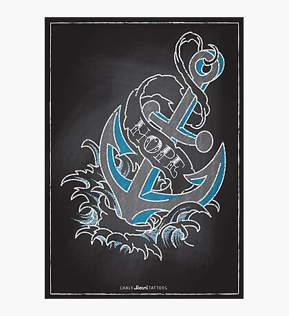 Chalk Board Tattoos - Hope Photographic Print