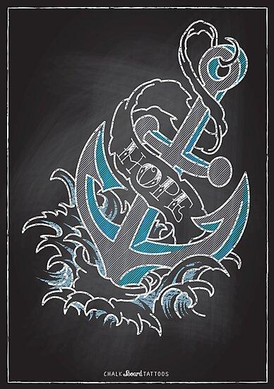 Chalk Board Tattoos - Hope by Rob Stephens