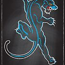 Chalk Board Tattoos - Panther by Rob Stephens