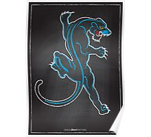 Chalk Board Tattoos - Panther Poster