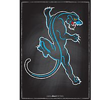 Chalk Board Tattoos - Panther Photographic Print