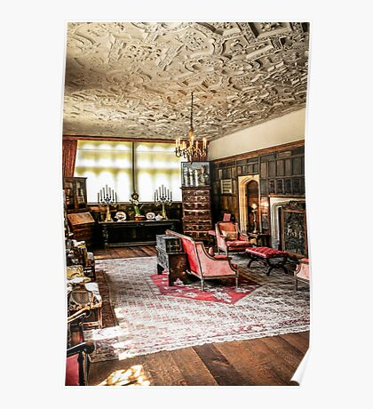 Stately Home Living Room Poster