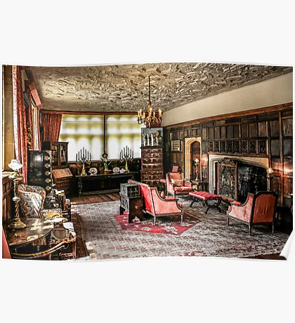 English Tudor Stately Home Living Room Poster