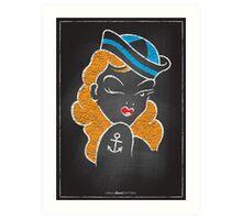 Chalk Board Tattoos - Pin Up Art Print