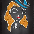 Chalk Board Tattoos - Pin Up by Rob Stephens