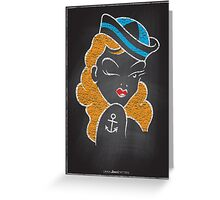 Chalk Board Tattoos - Pin Up Greeting Card