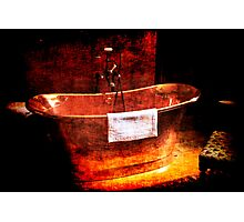 Copper Rolled-top bath tub Photographic Print