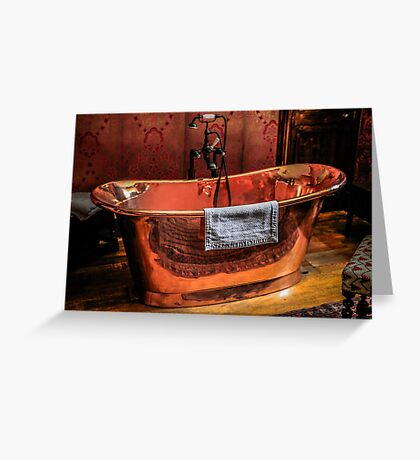 Copper Rolled-top bath tub Greeting Card