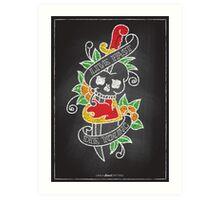 Chalk Board Tattoos - Skull Art Print