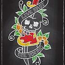 Chalk Board Tattoos - Skull by satansbrand