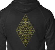 Diamond Matrix ~ 33 Year cycle Zipped Hoodie