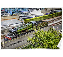 Steaming in Green Poster