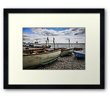Beached Boats at Beer Framed Print