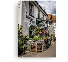 Village of Beer Pub in Devon England Canvas Print