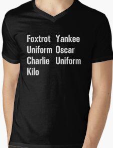 Military Salute Mens V-Neck T-Shirt