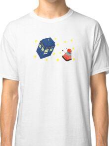 Doctor who tardis + Dalek battle  Classic T-Shirt
