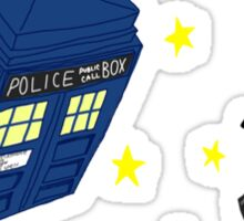 Doctor who tardis + Dalek battle  Sticker