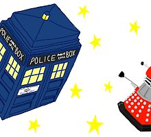 Doctor who tardis + Dalek battle  by LibbyroseITM