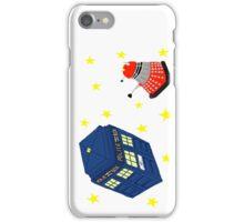 Doctor who tardis + Dalek battle  iPhone Case/Skin