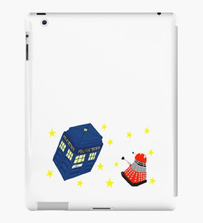 Doctor who tardis + Dalek battle  iPad Case/Skin