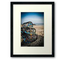 Lobster pots Framed Print