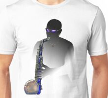 Blues Saxophone Man  Unisex T-Shirt