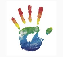 rainbow hand by dudina