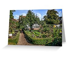 Behind the Walled Garden Greeting Card