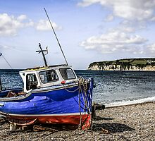 Fishing Boat on Shingle by Chris L Smith