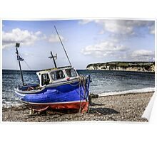 Fishing Boat on Shingle Poster