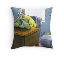Roller waiting for work Throw Pillow