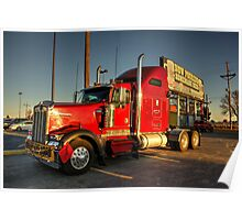 Red Kenworth  Poster