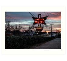 Lincoln Motel   Art Print
