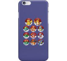 Pokemon - Pikachu and starters iPhone Case/Skin